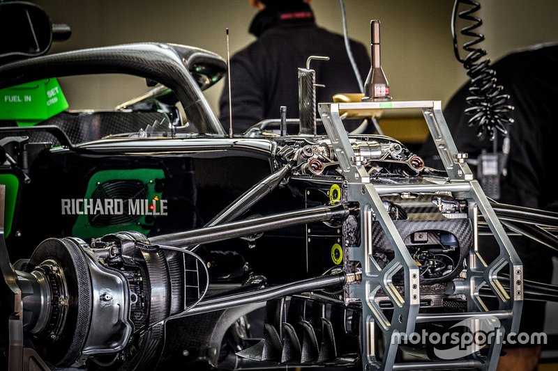 Haas F1 Team VF-19 in the garage