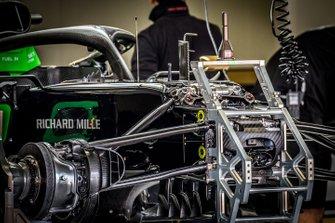 La Haas VF-19 dans son stand