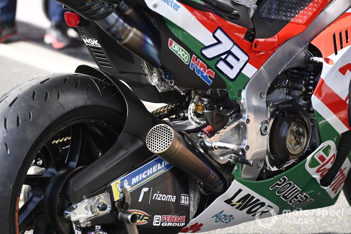 Detalle de la moto Team LCR Honda