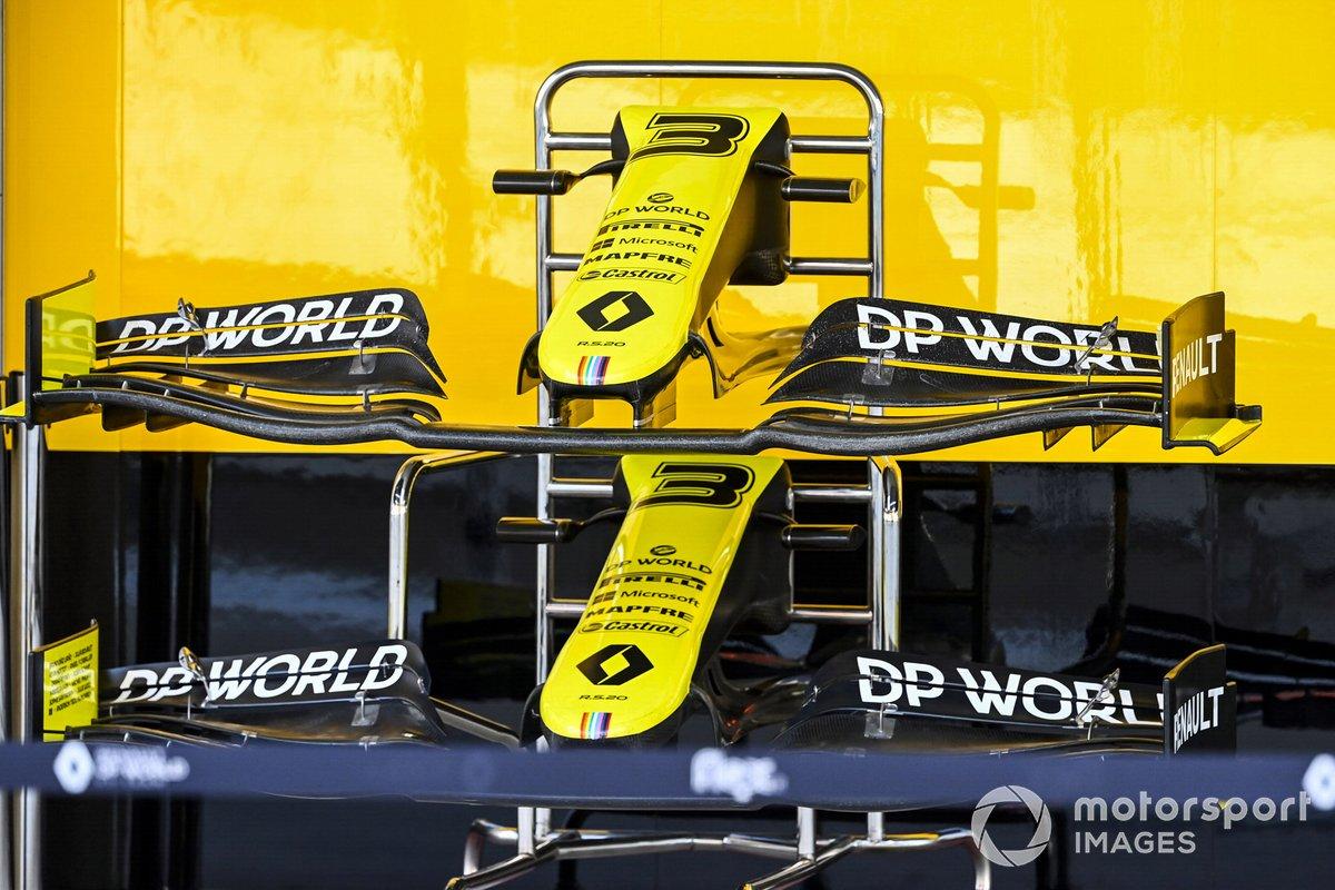 Alerones delanteros de Renault F1