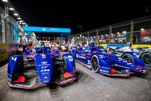 Auto di Robin Frijns, Envision Virgin Racing, Audi e-tron FE07, Nick Cassidy, Envision Virgin Racing, Audi e-tron FE07