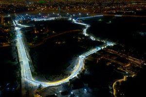 Riyadh Street Circuit in Riad unter LED-Flutlicht