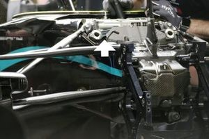 Mercedes W11 front suspension detail
