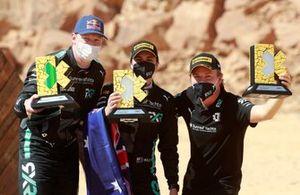 Rosberg X Racing con el trofeo y Nico Rosberg, fundador y director general de Rosberg X Racing