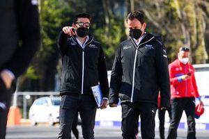 Norman Nato, Venturi Racing, walks the track with a team mate