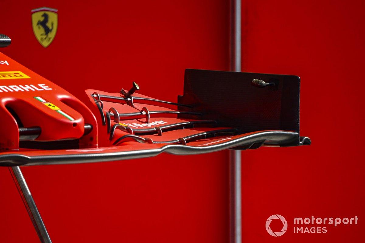 Detalle del alerón delantero del Ferrari