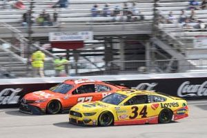 Michael McDowell, Front Row Motorsports, Ford Mustang Love's Travel Stops, Bubba Wallace, 23XI Racing, Toyota Camry Root Insurance