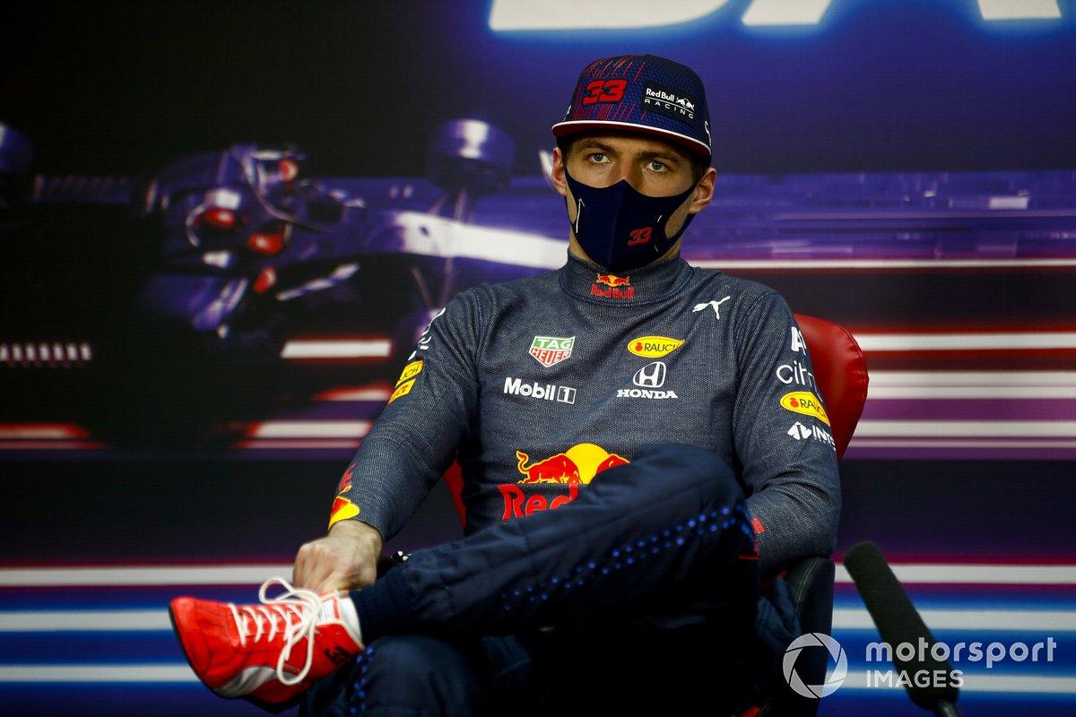 Max Verstappen, Red Bull Racing en la rueda de prensa