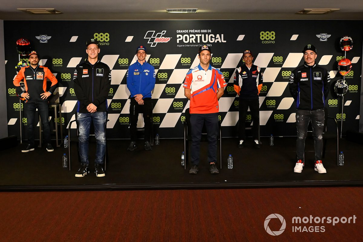 Miguel Oliveira, Red Bull KTM Factory Racing, Fabio Quartararo, Yamaha Factory Racing, Joan Mir, Team Suzuki MotoGP, Johann Zarco, Pramac Racing, Marc Márquez, Repsol Honda Team, Maverick Viñales, Yamaha Factory Racing