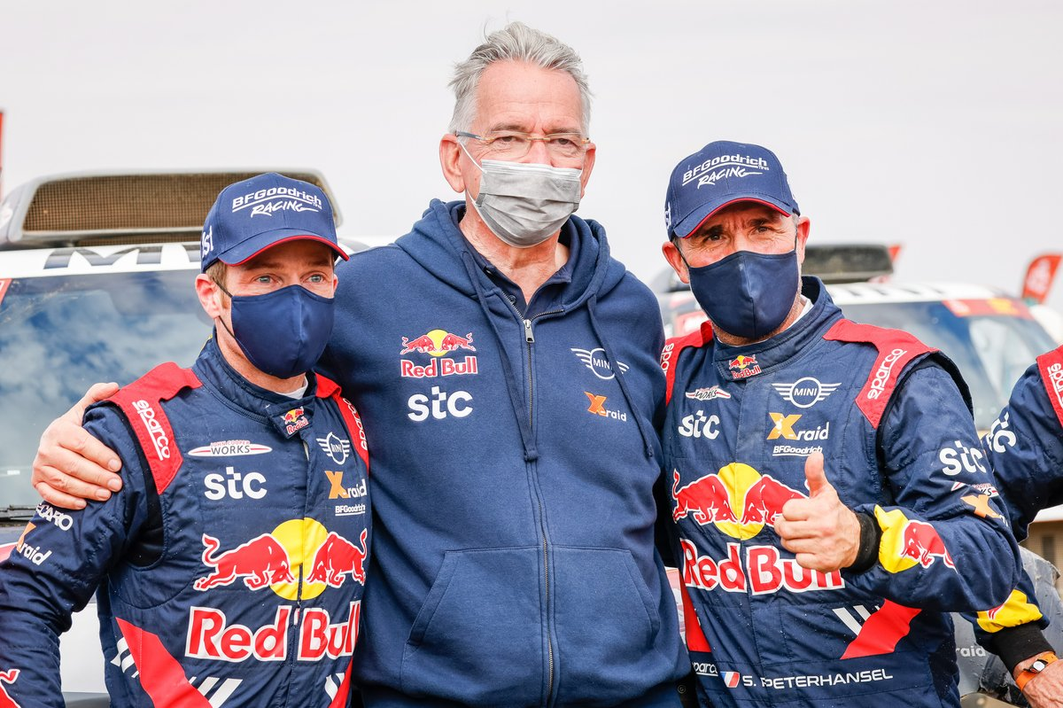 Sven Quandt, dueño de X-Raid Team, with #302 X-Raid Mini JCW Team: Stéphane Peterhansel, Edouard Boulanger