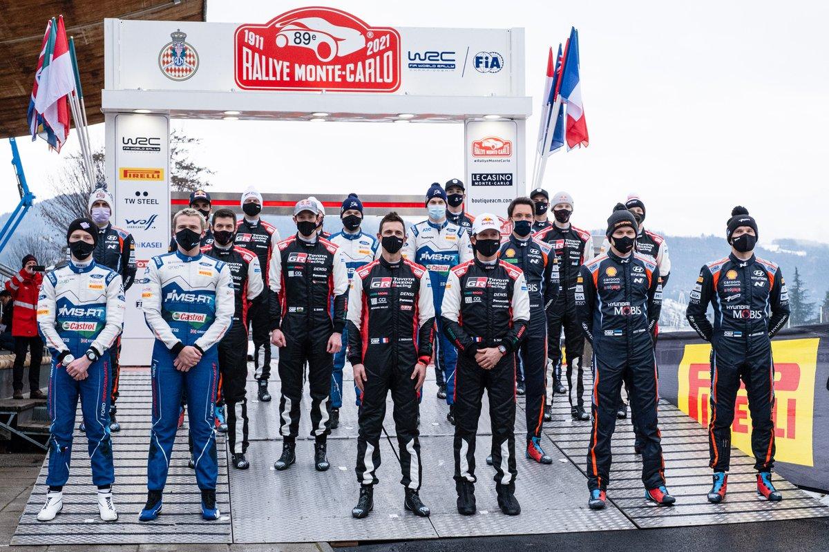 Todos los pilotos del Rally de Montecarlo del WRC 2021