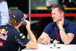 Max Verstappen, Red Bull Racing, mit Vater Jos Verstappen