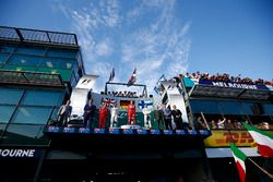 Podium: Luigi Fraboni, Motorenchef, Ferrari; 2. Lewis Hamilton, Mercedes AMG; 1. Sebastian Vettel, F