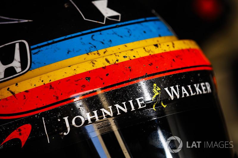El casco de Fernando Alonso, Andretti Autosport Honda