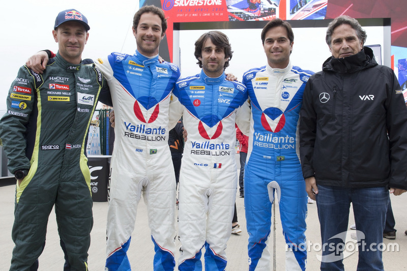 Bruno Senna, Vaillante Rebellion Racing, Mathias Lauda, Aston Martin Racing, Nicolas Prost, Nelson Piquet Jr., Vaillante Rebellion Racing, Nelson Piquet