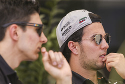 Esteban Ocon, Force India, Sergio Perez, Force India