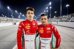 Pole: Charles Leclerc, PREMA Racing, 2. Antonio Fuoco, PREMA Racing