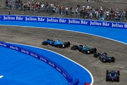 Sébastien Buemi, Renault e.Dams, Nelson Piquet Jr., NEXTEV TCR Formula E Team, Adam Carroll, Jaguar Racing