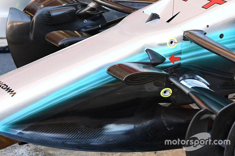 Mercedes AMG F1 W08 ön bölüm detay