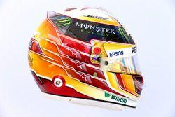The helmet of Lewis Hamilton, Mercedes AMG F1 W08