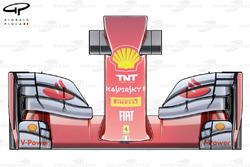 Le nez et l'aileron avant de la Ferrari F14 T