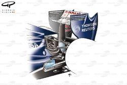 Williams FW33 rear suspension