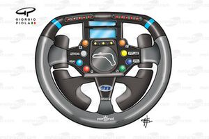 Minardi M02 2000 Gene steering wheel