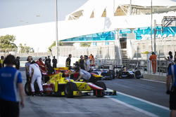 Cars of Johnny Cecotto Jr., Rapax; Oliver Rowland, DAMS and Artem Markelov, RUSSIAN TIME