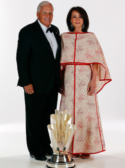 Champion team owner Rick Hendrick and his wife Linda