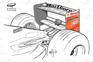Ferrari F399 rear wing