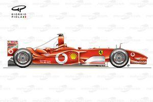 Ferrari F2003GA side view