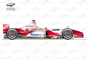 Toyota TF103 side view
