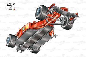 Ferrari F2002 (653), вид снизу
