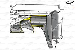 Ferrari F2003-GA (654) 2003 stepped diffuser detail