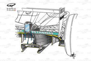 Sauber C21 2002 diffuser