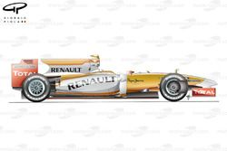 Renault R29 2009 side view