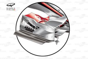 Plaque d'extrémité de l'aileron avant de la McLaren MP4-22