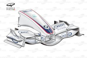 BMW F1.07 2007 front wing and nose