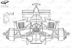 Spyker F8-VII detail (note sidepod bodywork and flickups in upper left corner)