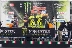 Podium: winners Valentino Rossi, Carlo Cassina, second place Daniel Sordo, Marc Marti, third place Marco Bonanomi, Luigi Pirollo