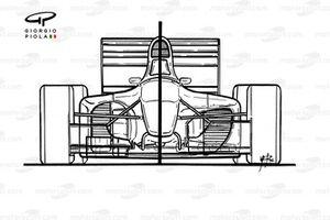Ferrari 412T1B (646) 1994, confronto con la 412T1