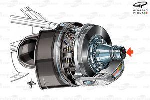 Haas VF-16, l'asse soffiato chiuso per Baku