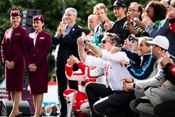 Alejandro Agag, Geschäftsführer Formel E; Alain Prost; Sébastien Buemi, Renault e.Dams