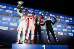 Podium: 1. Mehdi Bennani, Sébastien Loeb Racing, Citroën C-Elysée WTCC; 2. second place Tiago Montei