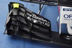 Detalle del alerón delantero del Williams FW40