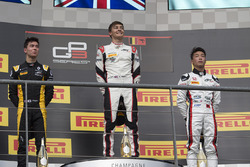 Podium: race winner George Russell, ART Grand Prix, second place Jack Aitken, ART Grand Prix, third