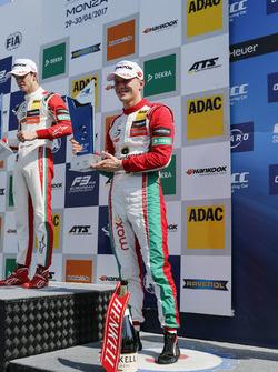 Podium: third place Maximilian Günther, Prema Powerteam Dallara F317 - Mercedes-Benz