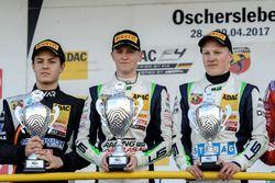 Podium: 1. Nicklas Nielsen, US Racing; 2. Felipe Drugovich, Van Amersfoort Racing, 3. Fabio Scherer,