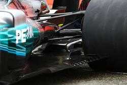 Détails du diffuseur de la Mercedes AMG F1 W08