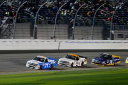 Johnny Sauter, GMS Racing Chevrolet; Kaz Grala, GMS Racing Chevrolet and Chase Briscoe, Brad Keselow